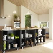 Quadrant zwarte keukenkast laag