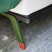 Auping Original Forest Green met Coral Red voetje