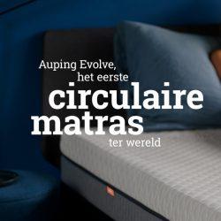 Auping Evolve matras: het eerste circulaire matras